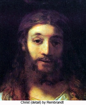 Christ (detail) by Rembrandt