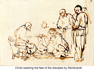 Christ Washing the Feet of the Disciples by Rembrandt
