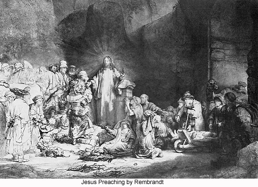 Jesus Preaching by Rembrandt