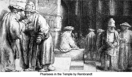 Pharisees in the Temple by Rembrandt