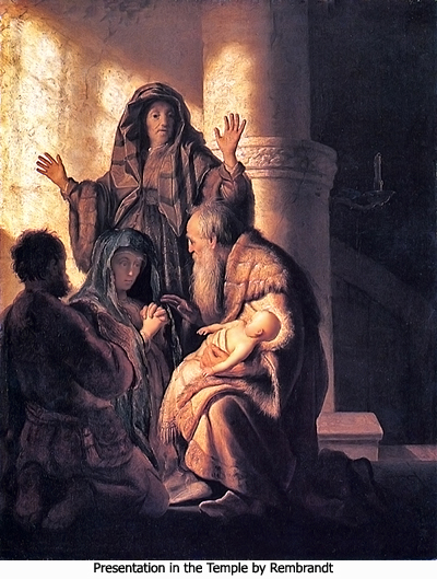 Presentation in the Temple by Rembrandt