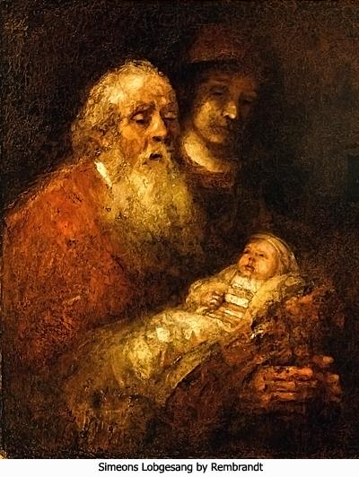 Simeons Lobgesang by Rembrandt