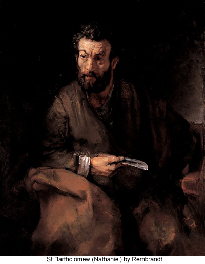 St Bartholomew (Nathaniel) by Rembrandt
