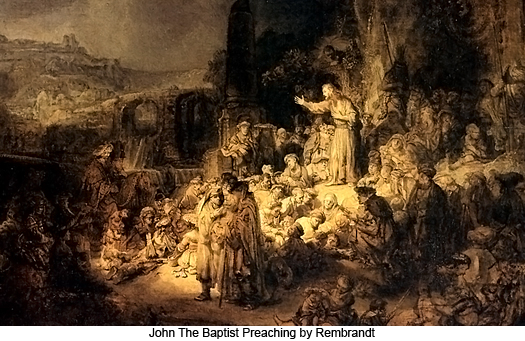 John the Baptist Preaching by Rembrandt