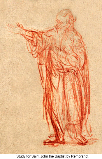 Study for Saint John the Baptist by Rembrandt
