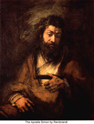 The Apostle Simon by Rembrandt