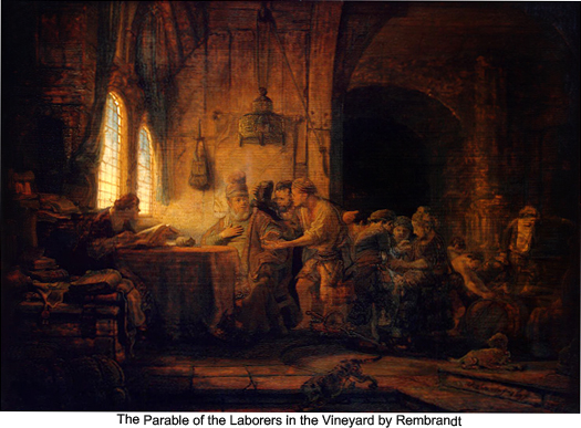 The Parable of the Laborers in the Vineyard by Rembrandt
