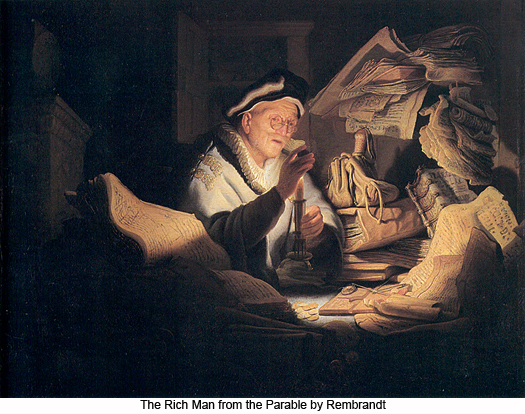 The Rich Man from the Parable by Rembrandt