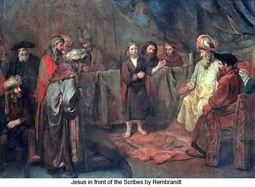 Jesus in front of the scribes by Rembrandt