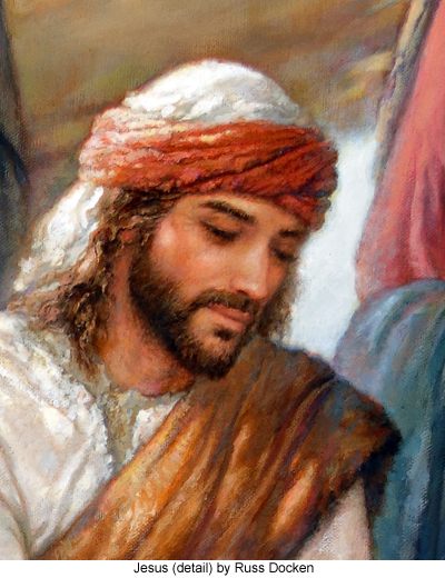 Jesus detail from The Kingdom's First Hospital by Russ Docken