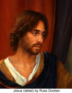 Jesus (detail) by Russ Docken