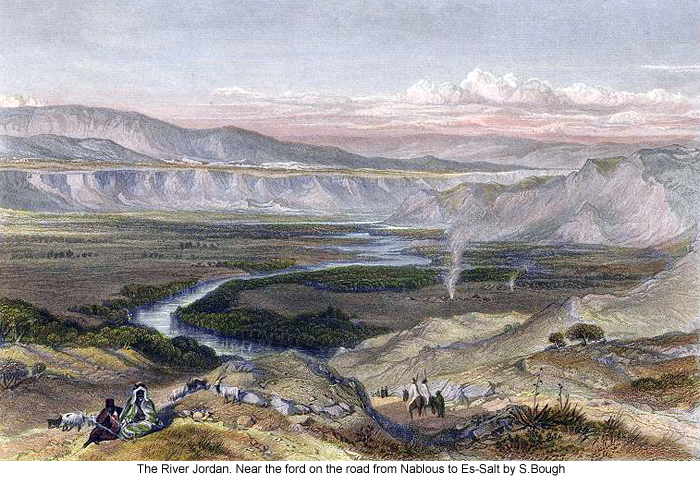The River Jordan. Near the ford on the road from Nablous to Es-Salt by S.Bough