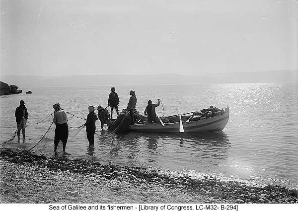 Sea of Galilee and its fishermen - [Library of Congress. LC-M32- B-294]