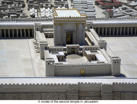 A model of the second temple in Jerusalem