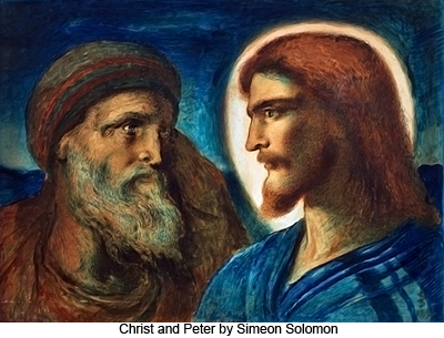 Christ and Peter by Simeon Solomon
