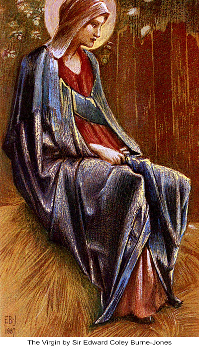 The Virgin by Sir Edward Coley Burne-Jones