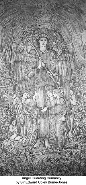 Angel Guarding Humanity by Sir Edward Coley Burne-Jones