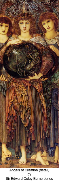 Angels of Creation (detail) by Sir Edward Coley Burne-Jones