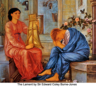 The Lament by Sir Edward Coley Burne-Jones