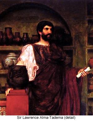 Hadrian Visiting a Romano British Pottery (detail) by Sir Lawrence Alma-Tadema