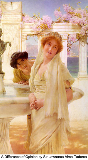 A Difference of Opinion by Sir Lawrence Alma-Tadema