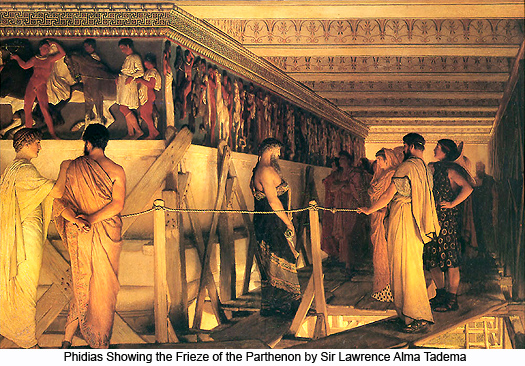Phidias Showing the Frieze of the Parthenon by Sir Lawrence Alma-Tadema