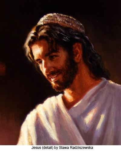 Jesus (detail) by Slawa Radziszewska