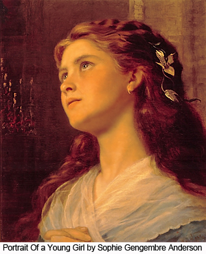 Portrait of a Young Girl by Sophie Gengembre Anderson