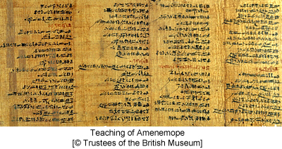 Teaching of Amenemope [© Trustees of the British Museum]