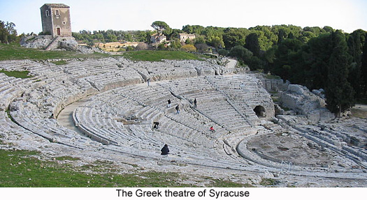 The Greek theatre in Syracuse, Sicily, Italy