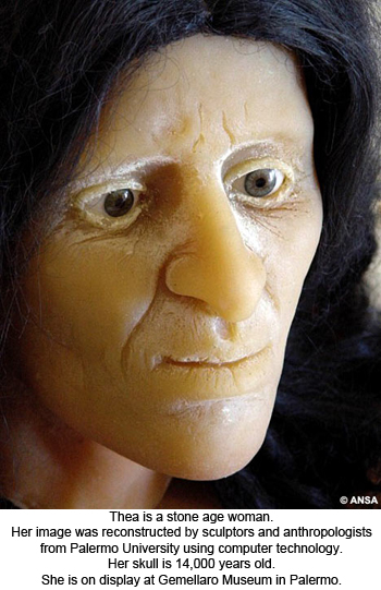 Thea, the reconstructed Stone-Age Woman