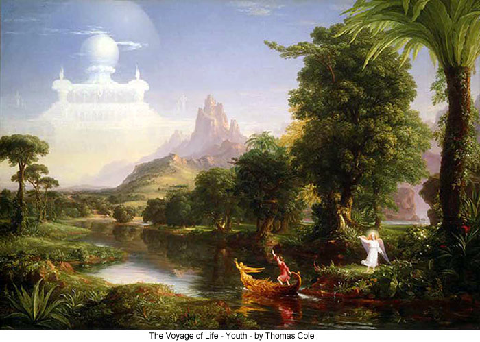 The Voyage of Life - Youth - by Thomas Cole