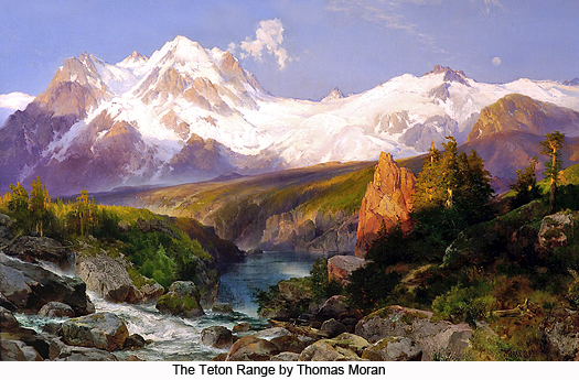 The Teton Range by Thomas Moran