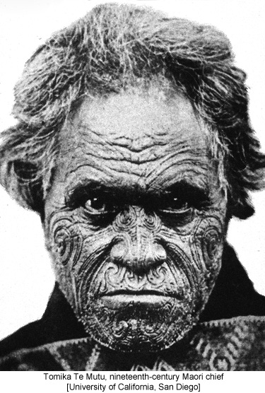 Tomika Te Mutu, nineteenth-century Maori chief [University of California, San Diego]