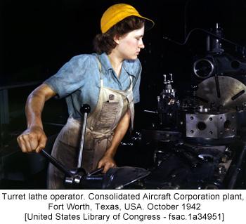 Turret lathe operator - United States Library of Congress fsac.1a34951