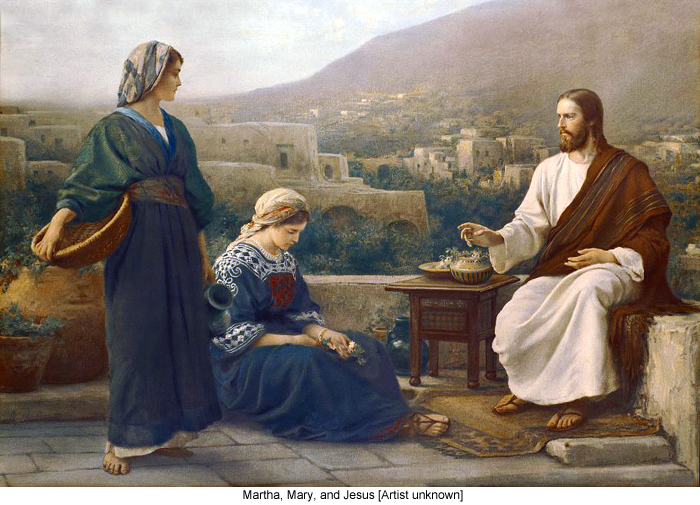 Martha, Mary, and Jesus [Artist unknown]