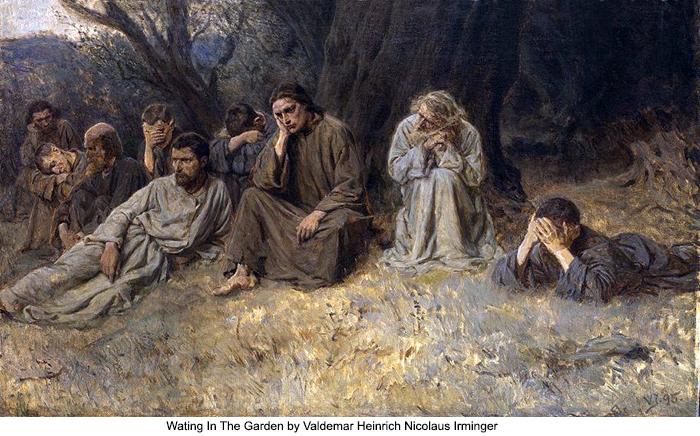 Wating In The Garden by Valdemar Heinrich Nicolaus Irminger