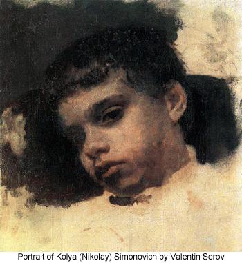 Portrait of Kolya (Nikolay) Simonovich by Valentin Serov