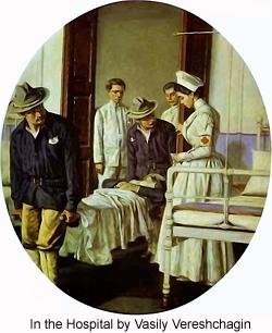 In the Hospital by Vasily Vereschagin