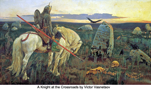 A Knight at the Crossroads by Victor Vasnetsov