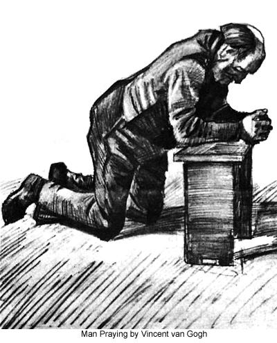 Man Praying by Vincent van Gogh