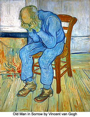 Old Man in Sorrow by Vincent van Gogh