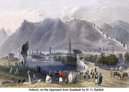 Antioch, on the Approach from Suadeah by W. H. Bartlett