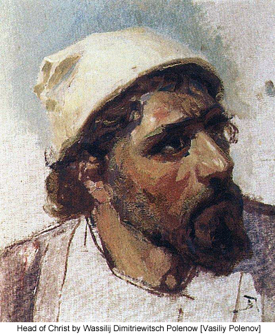 Head of Christ by Wassilij Dimitriewitsch Polenow [Vasiliy Polenov]