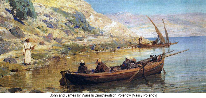 John and James by Wassilij Dimitriewitsch Polenow [Vasily Polenov]