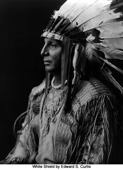 White Shield by Edward S. Curtis