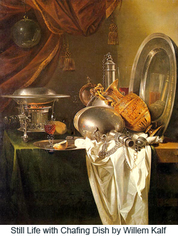 Still Life with Chafing Dish by Willem Kalf
