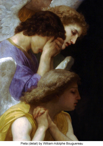 Pieta (detail) by William-Adolphe Bouguereau