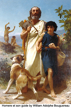 Homere et son guide by Adolphe Bouguereau