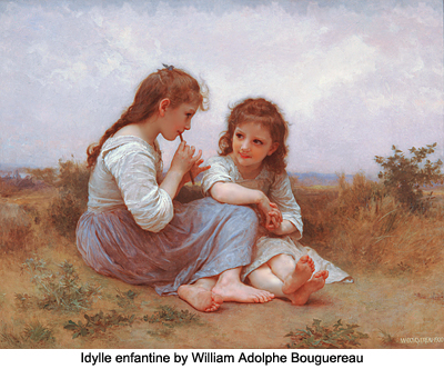 Idylle Enfantine by William Adolphe Bouguereau